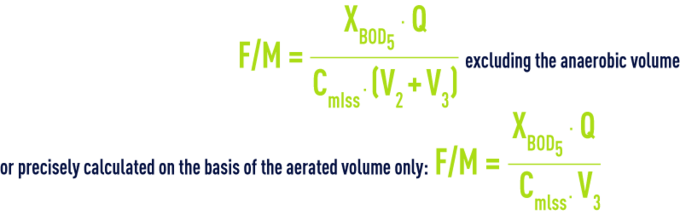 Formula: suspended growth - biological reactor F/M ratio