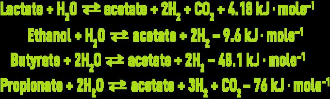 Formula :  Methanogenesis biochemistry microbiology - acetogenesis stage