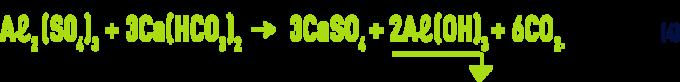 Formula: Aluminium salts - water's buffer capability e.g sulfate