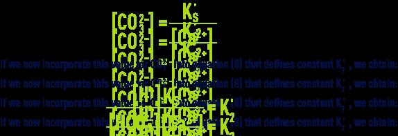 Formula: pHS -calcium-carbonate balance