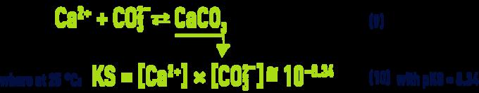 Formula: pHS - calcium carbonate dissolution/precipitation balance