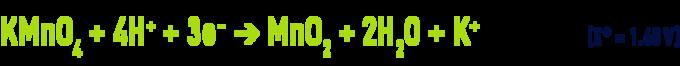 Formula: permanganate in an acid medium