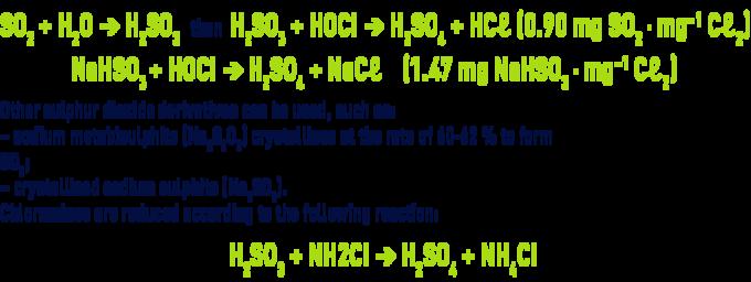 Formula: eliminating residual chlorine