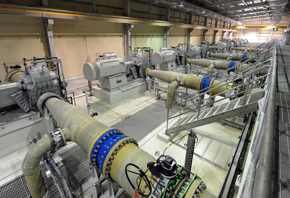 Al Dur reverse osmosis desalination plant - turbine Pelton