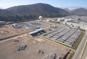 sludge treatment wastewater treatment plant El trebal Mapocho