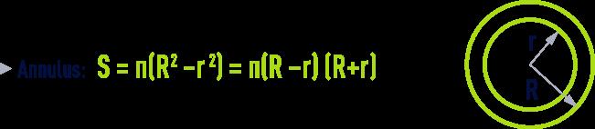 formula: geometry formulae- Annulus