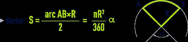 formula: geometry formulae - Sector