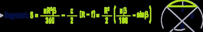formula: geometry formulae - Segment