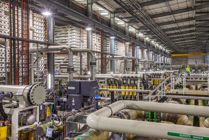 Barcelona desalination plant