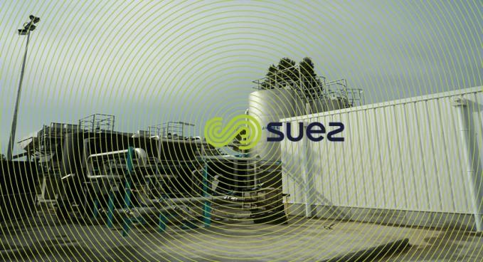 view technical building, sand filtration,  coagulation - flocculation - flotation unit